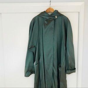 MARALYCE FERREE Floor-length Coat, Metallic Green